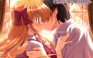 Anime Girl And Boy Kiss 32 Background Wallpaper