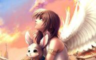Anime Girl Angel 3 Wide Wallpaper