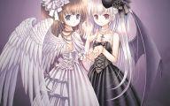 Anime Girl Angel 33 Background Wallpaper