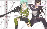 Sword Art Online Kirito And Sinon  9 Desktop Background