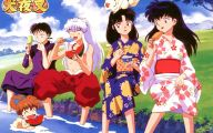 Inuyasha Characters 1 Background Wallpaper
