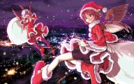 Anime Christmas Girls  18 Background Wallpaper