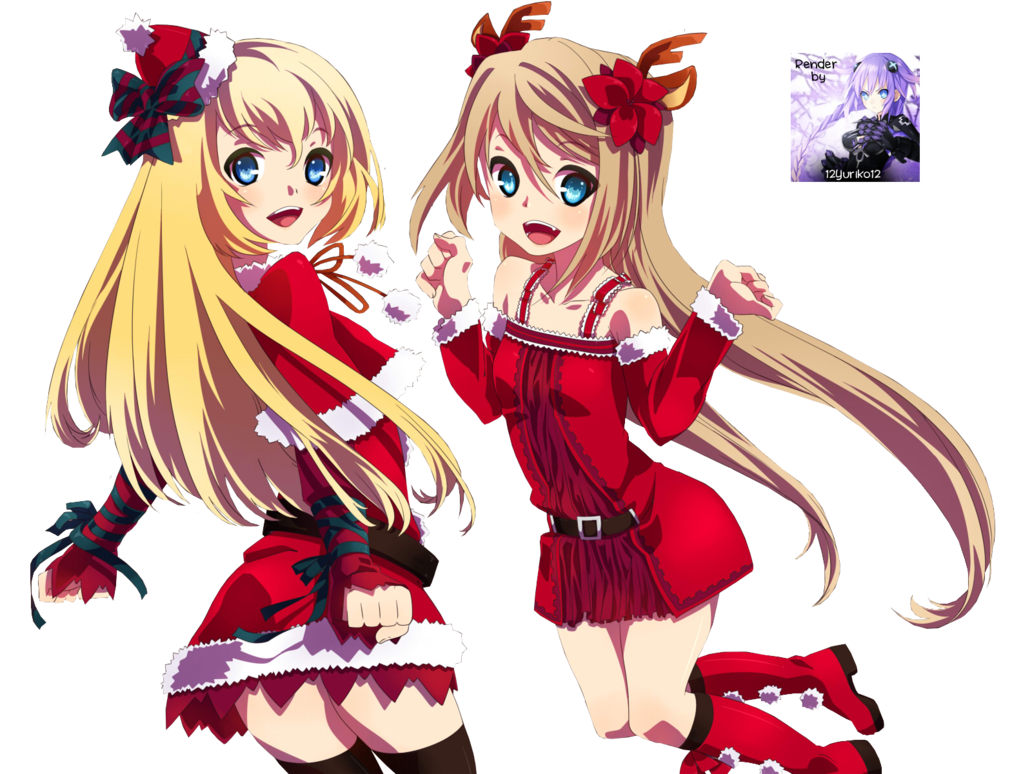 Anime Christmas Girls 12 Cool Hd Wallpaper - Animewp.com