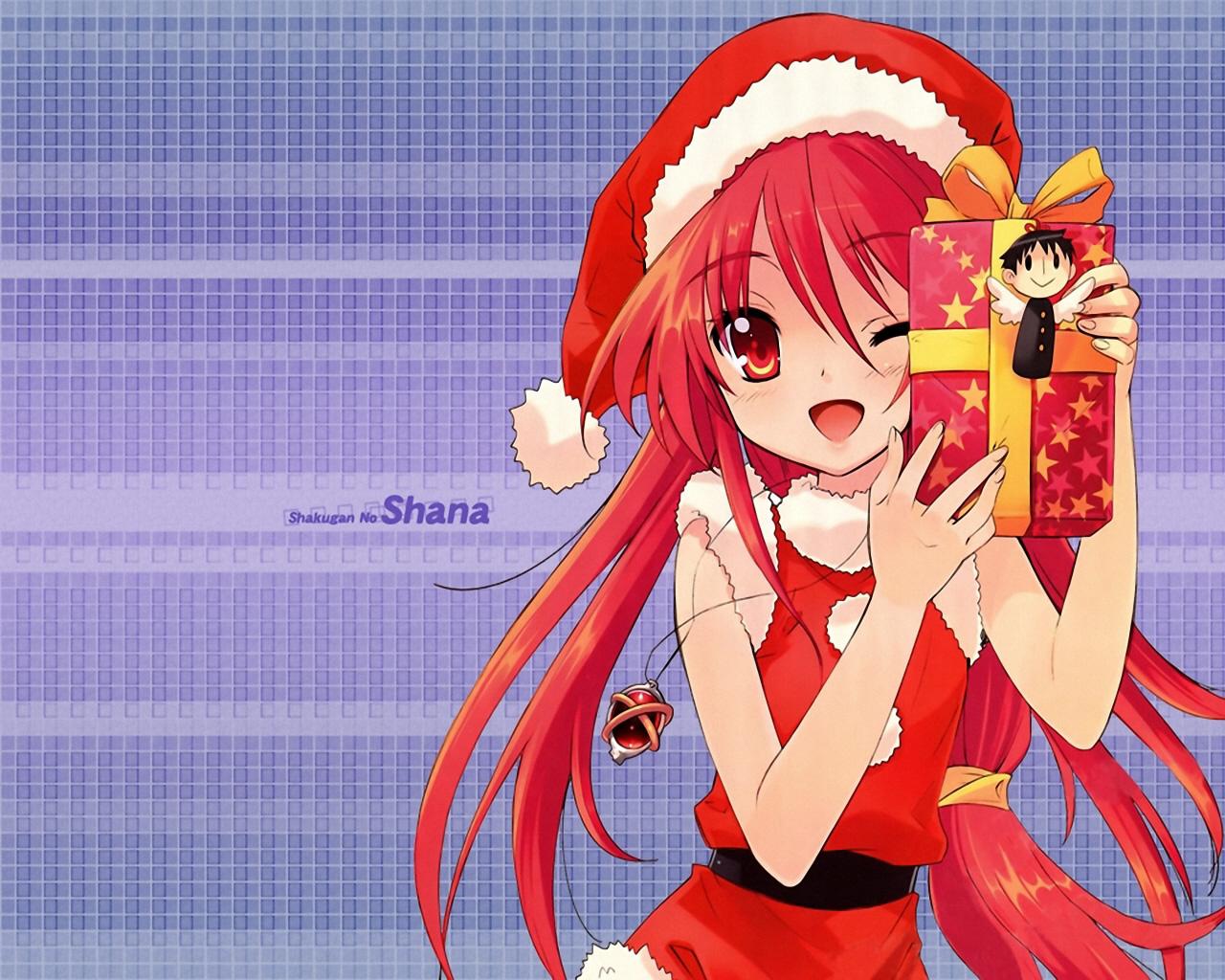 Anime Christmas Girls 9 Wide Wallpaper - Animewp.com