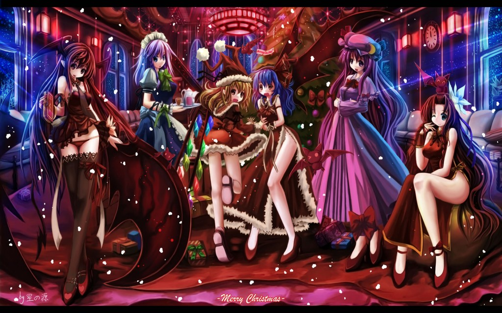 Anime christmas girls 24 cool hd wallpaper - Anime girl christmas wallpaper ...